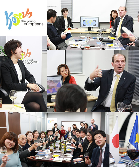 1st Diplomatic Evening in Embassy コソボ大使館